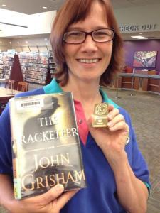 John Grisham geocoin found! *excited*