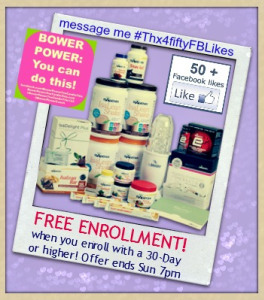 Thanks for 50+ FB Likes! + Free Enrollment offer