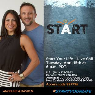 #STARTyourlife April 15, 2014 live call, 6 p.m. PST (9 p.m. EST)