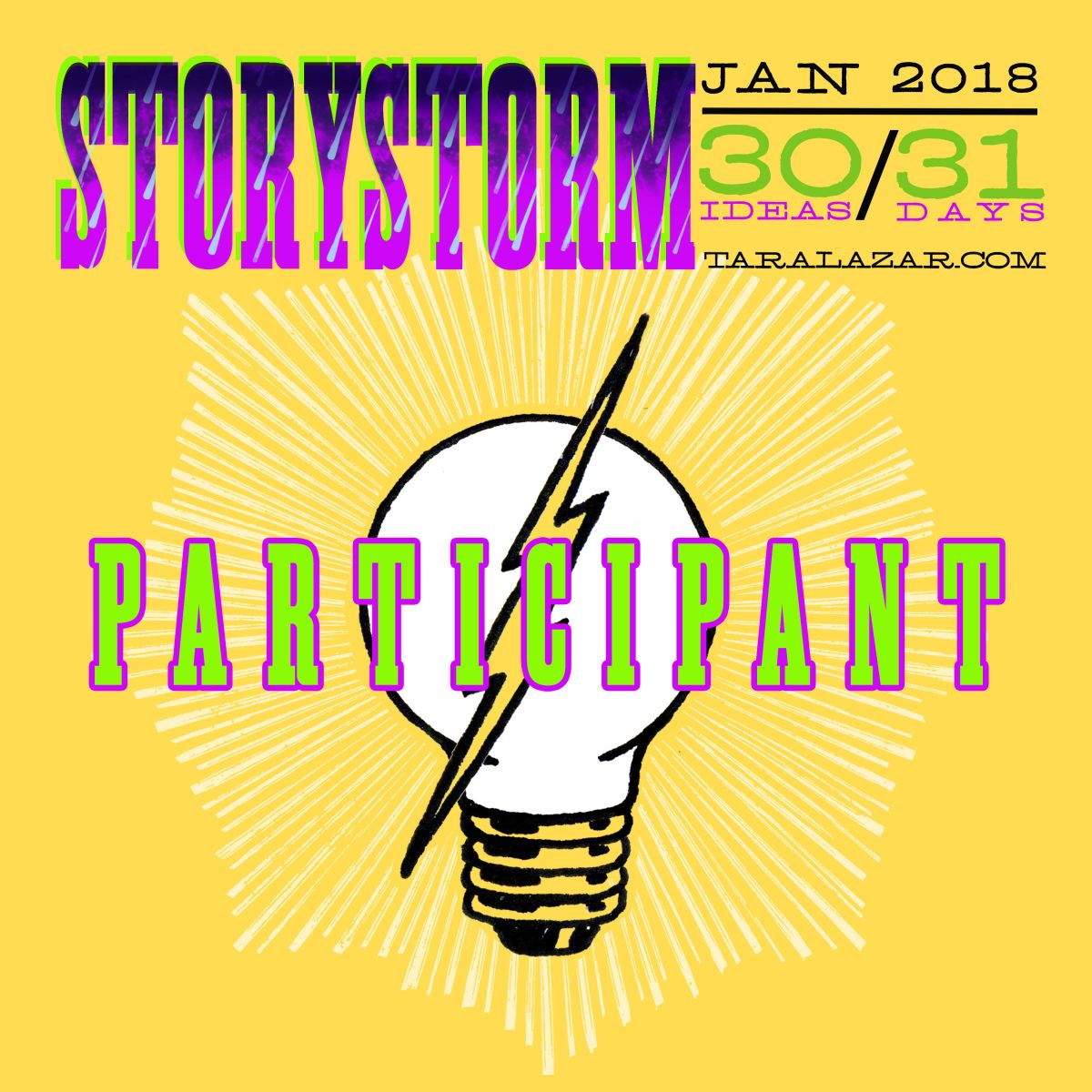 STORYSTORM 2018 Registration is OPEN!